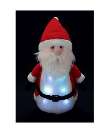 Pere noël lumineux 8 LED 33x16 cm rouge