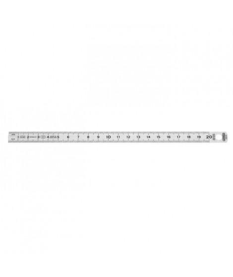 STANLEY Réglet acier inoxydable flexible 20cmx13mm
