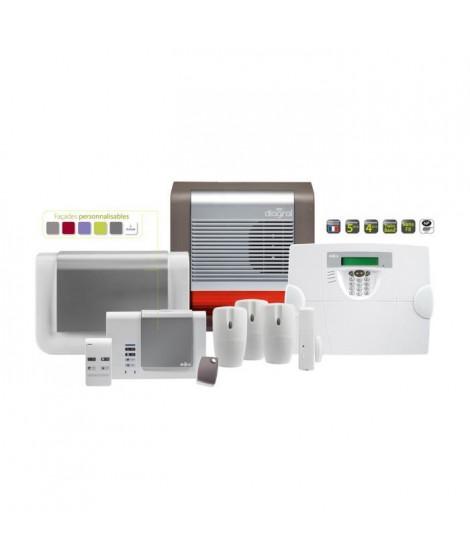 DIAGRAL Pack alarme maison sans fil DIAG01BSF compatible animaux évolutive avec transmetteur GSM