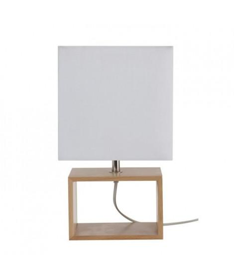 COREP Lampe a poser style scandinave 18x12x31 cm E14 40 W blanc et beige