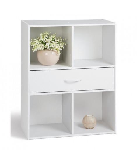 COMPO Cube 4 cases + 1 tiroir blanc