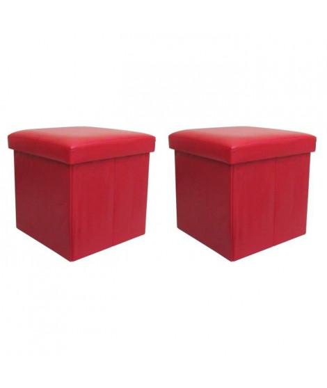 Lot de 2 coffres pliants Box Rouge