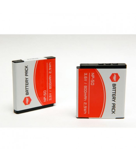 MP EXTRA  MP-NP50  Pack de 2 batteries NP50 pour FUJIFILM