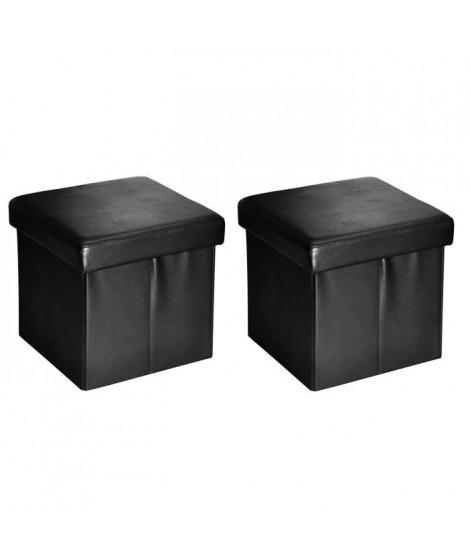 Lot de 2 coffres pliants Box Noir