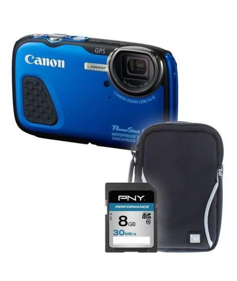 D30 bleu + sacoche + carte 8Go - Appareil photo compact