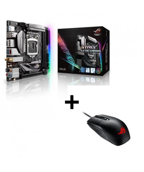 ASUS Carte mere STRIX Z270I GAMING + Souris ASUS P303 ROG STRIX IMPACT offerte !