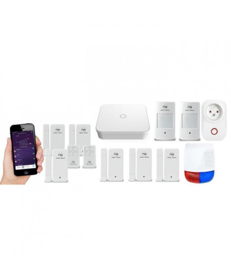 NEW DEAL Pack Alarme maison LAN / WIFI / GSM Live Pro-L15 Domoprotect sans fil connectée