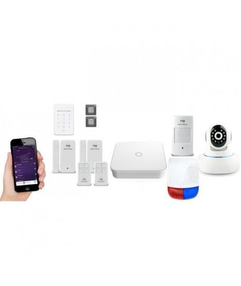 NEW DEAL Pack Alarme maison LAN / WIFI / GSM Live Pro-L15+ Serenity sans fil connectée