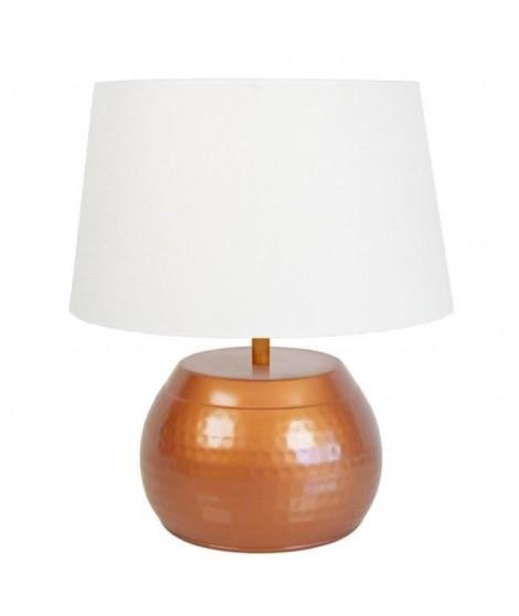 Lampe Bangalore 37 cm 20 W équivalent a 75 W blanc et cuivré