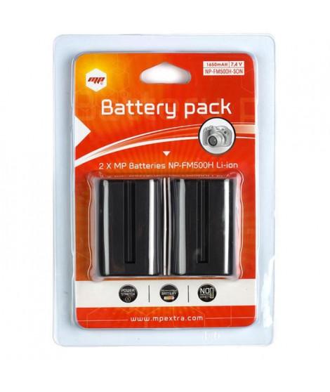 MP EXTRA  MP-NP-FM500H  Pack de 2 batteries  NP-FM500H pour SONY