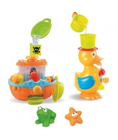 LUDI Coffret jouets de bain 3 activités