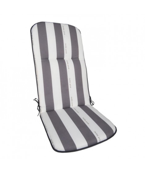 JARDIN PRIVE coussin pour fauteuil multipositions CANCALE Gris 117x46x5,5cm