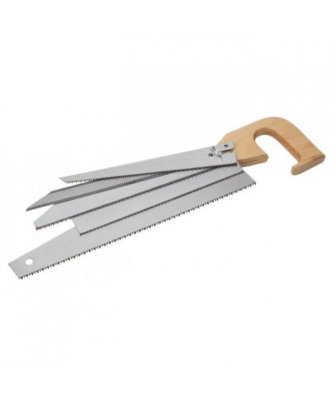 MEISTER Scie avec 5 lames - manche en bois