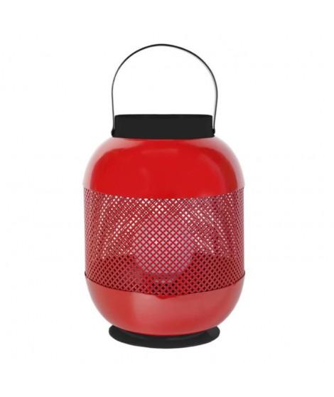Lampe photophore Casablanca 45 cm 20 W équivalent a 75 W rouge et noir