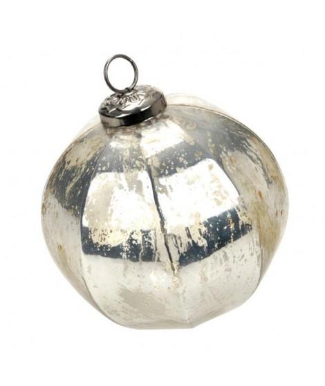 Boule de Noël argentée Indus