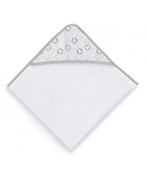 LULU CASTAGNETTE Sortie de bain Coton Brodé All Lulu 100x100 cm Beige