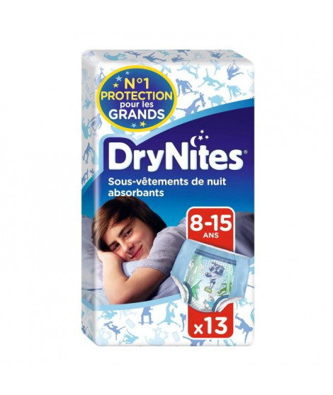HUGGIES Culotte Dry Nites Boy 8-15 Ans ( 27-57 Kg)