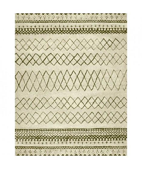 NAZAR Tapis de salon Marokko 120x170 cm blanc et beige