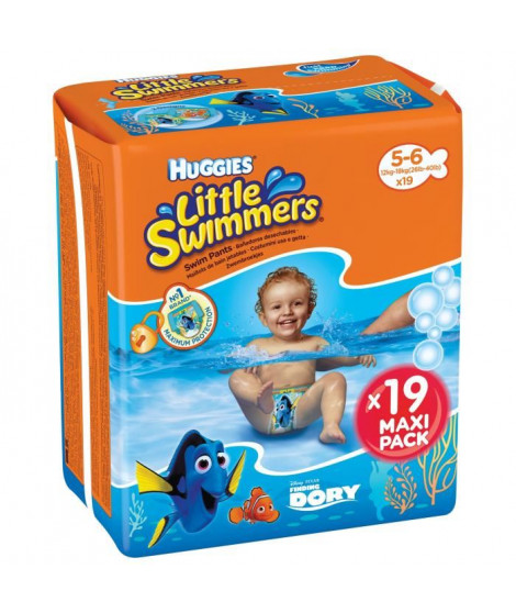 HUGGIES Maxi Pack Little Swimmers T5/6 x19