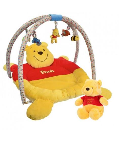 Coffret de naissance Winnie : Tapis de jeu + Peluche 50 cm - Disney Baby