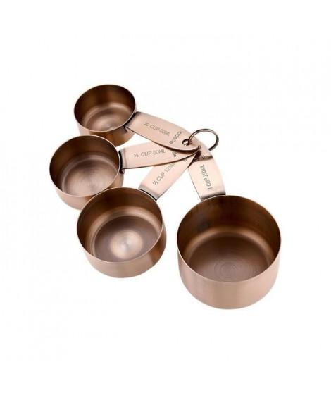 LADELLE Set de 4 coupes a doser Lawson - Acier inoxydable - Vieux cuivre