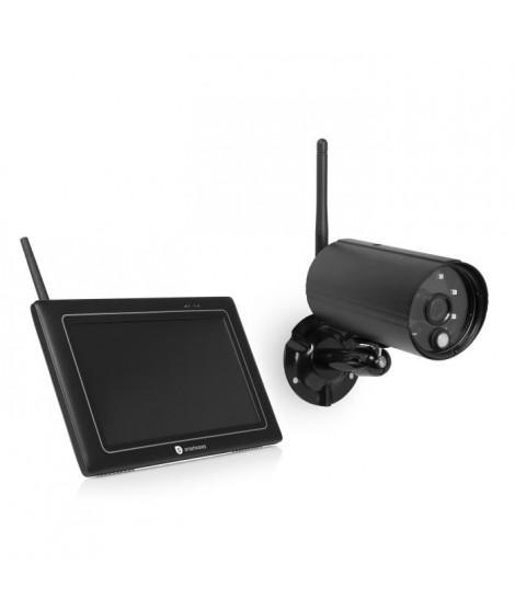 """SMARTWARES Kit de surveillance sans fil avec caméra Full HD 1080P et écran 7"""" pouces CS97DVR"""
