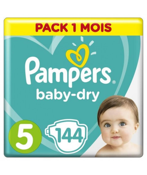 PAMPERS Baby Dry Taille 5, 11 a 25kg 144 couches