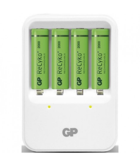GP BATTERIES Chargeur GP PB420 + 4AA 2000mAh Recyko+