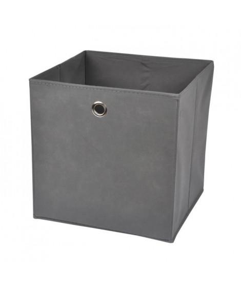 HOMEA Panier de rangement intissé 31x29x31 cm gris