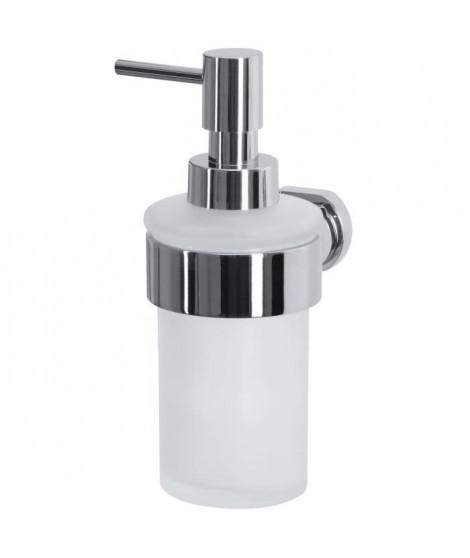 SPIRELLA Distributeur de savon Milo - 17,5x9,1x11,5cm - Chromé Blanc givré