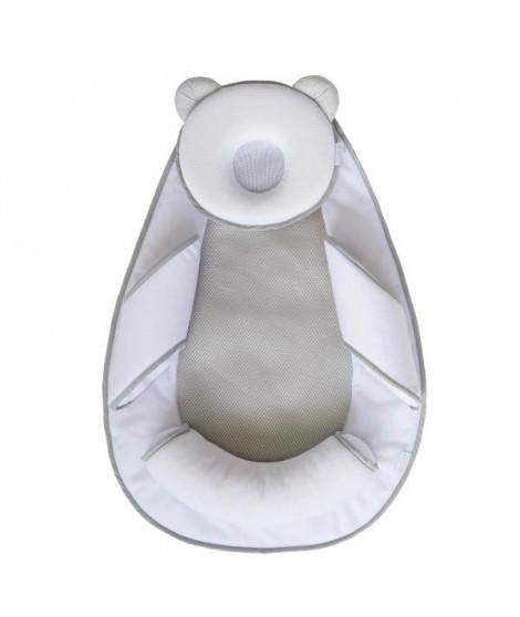 CANDIDE Pad Air+ Cale tete Panda - Blanc et gris