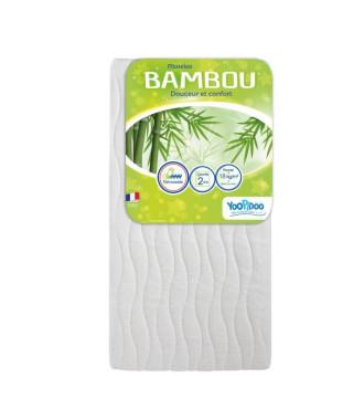 YOOPIDOO Matelas Bébé Bambou 60 x 120 x 12 cm