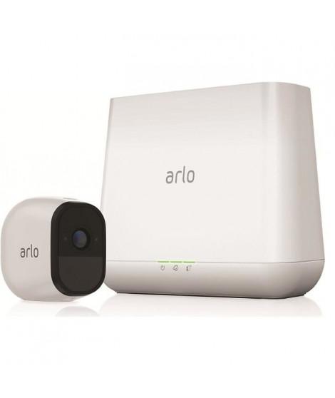 Arlo Pro Pack de 1 Caméra, Smart caméra HD grand angle avec batterie rechargeable Intérieure/extérieure alarme intégrée