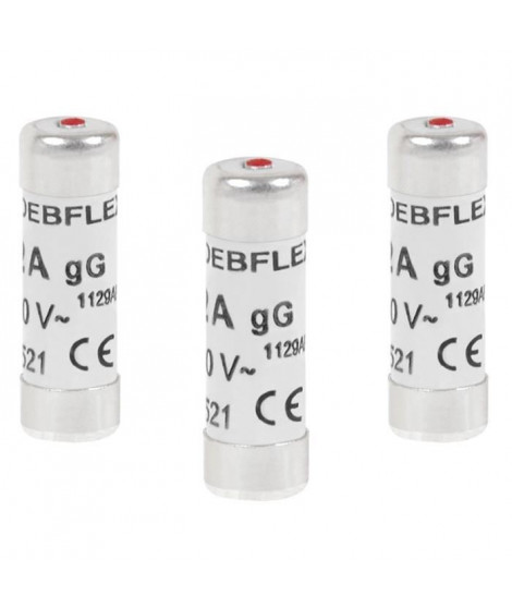 DEBFLEX Lot de 3 Fusibles 10,3x31,5 16 A