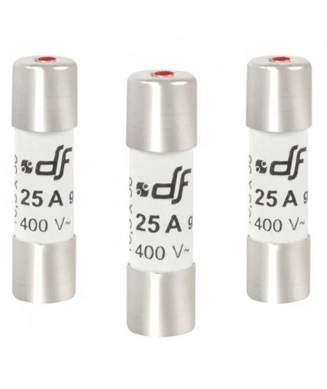 DEBFLEX Lot de 3 Fusibles 10,3x38 25 A