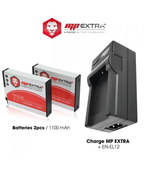 MP EXTRA  MP-EN-EL12-PACK  Pack 2 batteries + chargeur ENEL12 pour NIKON
