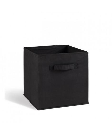 COMPO Tiroir de rangement tissu noir 27x27x28 cm