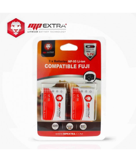 MP EXTRA  MP-NP-95  Pack de 2 batteries NP95 pour FUJI