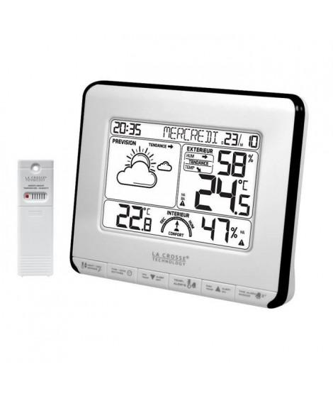 LA CROSSE WS6818WHI-BLA Station météo ave prévision météo, alertes de température et indice de confort