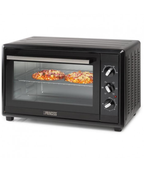 PRINCESS 01.112373.01.001-Mini four grill-45 L-1800 W-Fonction chaleur tournante-Noir