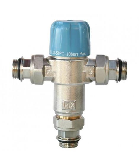 """SOMATHERM Limiteur Thermostatique Réglable NF de 35 a 50°C - Avec Clapets Anti-Retours 1/2"""" pour Chauffe Eau"""