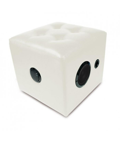 CALIBER HFG 511BT Enceinte bluetooth cube blanc - USB / SD / AUX-in