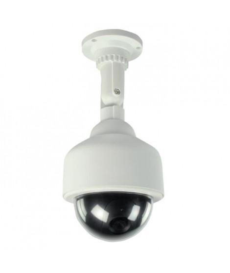 KONIG Caméra de surveillance dôme factice IP65 blanc