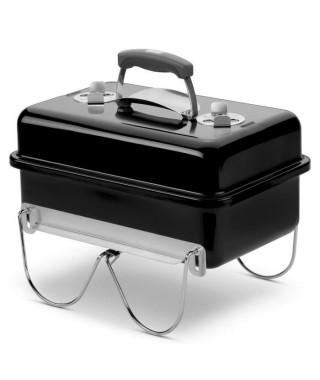 WEBER Barbecue a charbon Go-Anywhere Charcoal - Acier chromé - Noir