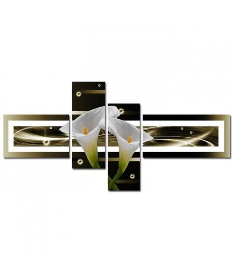 ARUM Tableau Multi Panneaux  abstrait 140x70 cm