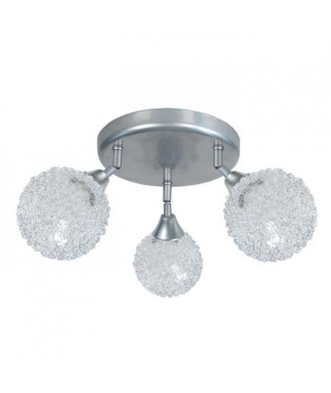 ACTUELLE Plafonnier 3 boules fil aluminium