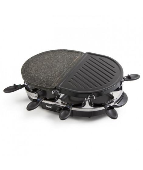 DOMO DO9059G Pierre a cuire, gril et raclette ? Pour 8 personnes ? 1200W ? Gris/Noir