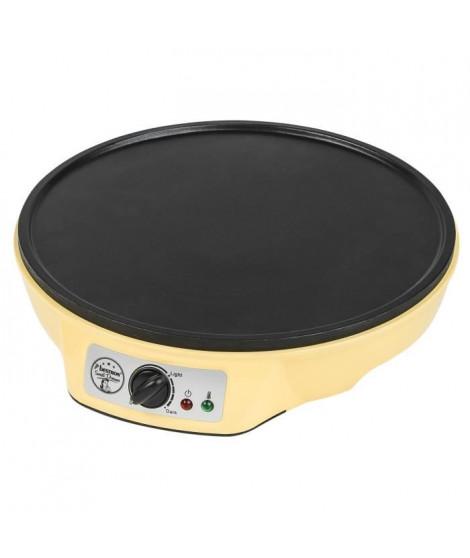 BESTRON ASW602 Crepiere - Diametre : 30 cm - Jaune Pastel