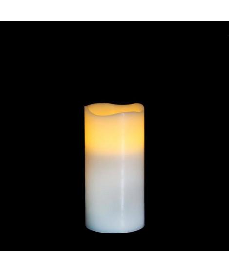 MICA DECORATIONS Lot de 3 bougies déco Bougie - Blanc