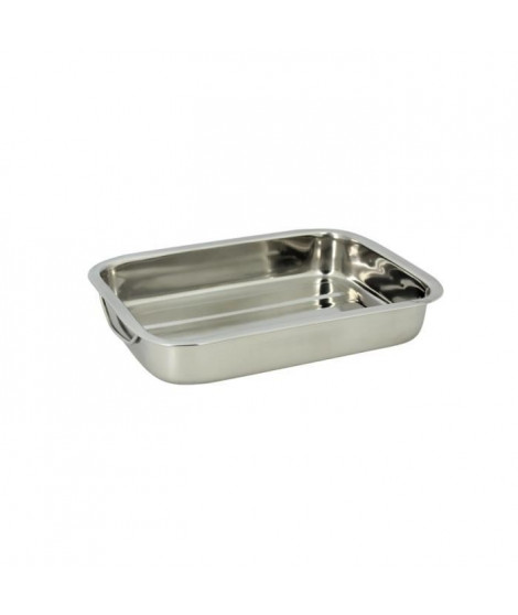 THE KITCHENETTE Plat rectangulaire 30x21cm inox
